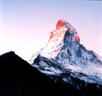 """Matterhorn and Hut at Sunrise"" - In addition to pictures of the Western United States, you'll see the scenic wonders of Europe. Just click the EUROPE button to the left"